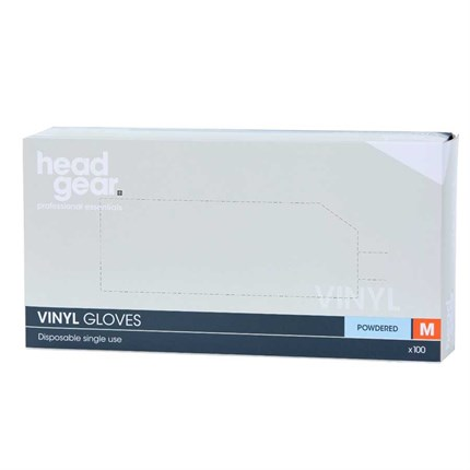Head-Gear Vinyl Disposable Powdered Gloves Box 100 - Small