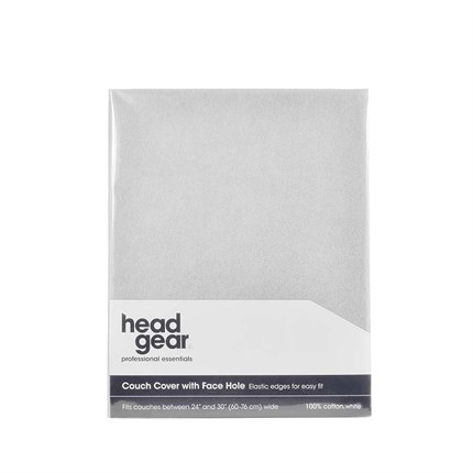 Head Gear Couch Cover - With Face Hole (White)