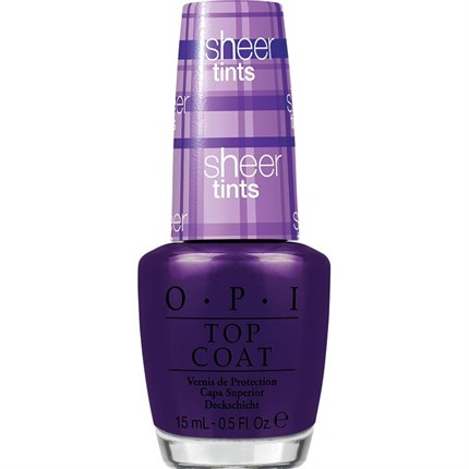 OPI Lacquer Top Coat Sheer Tints 15ml - Don't Violet Me Down