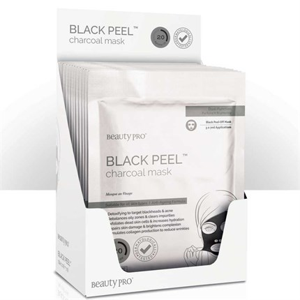 BeautyPro Black Peel Charcoal Face Mask (x12 case)