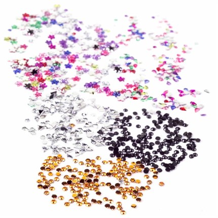 MAD Beauty Rhinestones / Wheel - Round Assorted Colours
