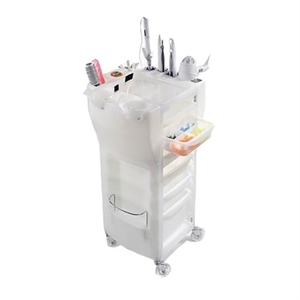 Maletti Colouring & Styling Trolley - White