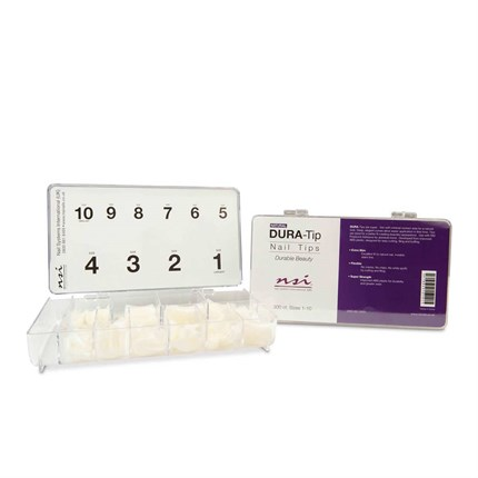 NSI Dura Tips Natural 300pk (Sizes 1-10)
