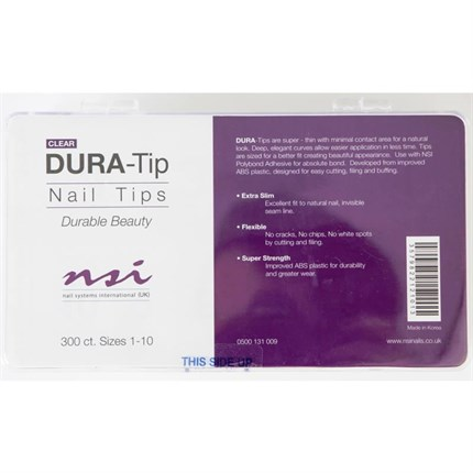 NSI Dura Tips Clear - 300pk (Sizes 1-10)