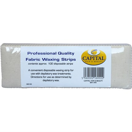 Capital Fabric Waxing Strips Pk100