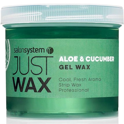Salon System Just Wax - Aloe & Cucumber Gel Wax (Spa) 450g