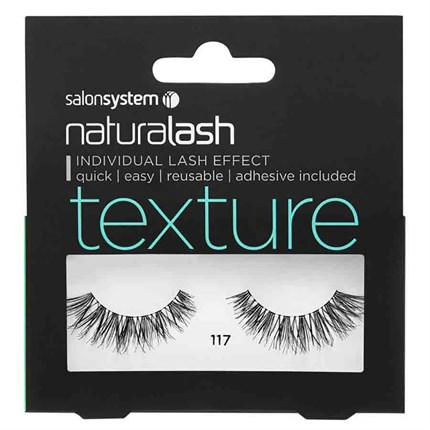 Salon System Naturalash Strip Lashes - 117 Black