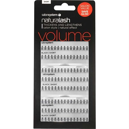 Salon System Naturalash Individual Lashes Flare Black Salon Value Pack - Short (Volume)