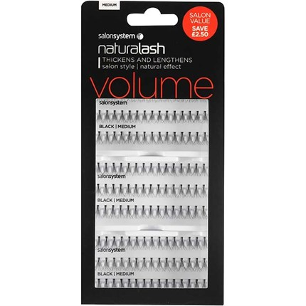 Salon System Naturalash Individual Lashes Flare Black Salon Value Pack - Medium (Volume)