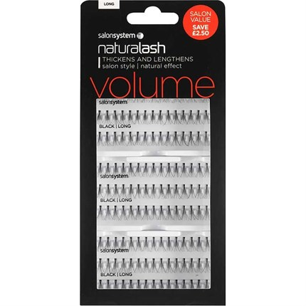 Salon System Naturalash Individual Lashes Flare Black Salon Value Pack - Long (Volume)