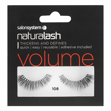 Salon System Naturalash Strip Lashes - 108 Black (Volume)