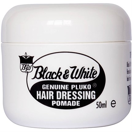 Black & White Pluko Hairdressing Pomade Wax 50ml - Normal