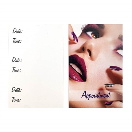 Appointment Cards Premium Nails Pk100