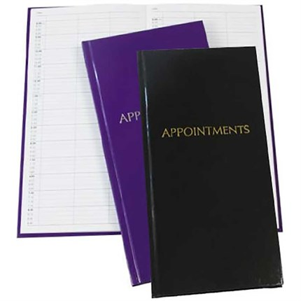 3 Column Appointment Book - Purple