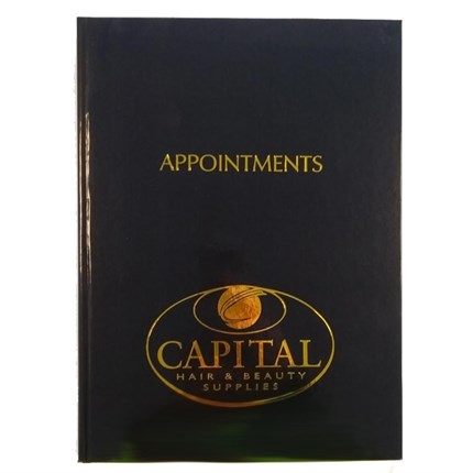 6 Column Appointment Book - Black