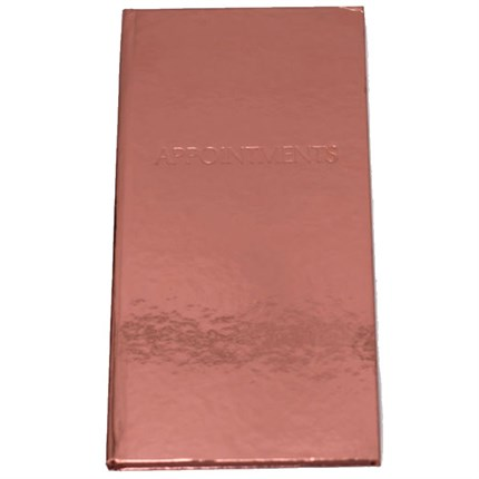 6 Column Appointment Book - Bronze