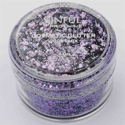 Sinful PROshine Cosmetic Glitter 10g - Violet Mix