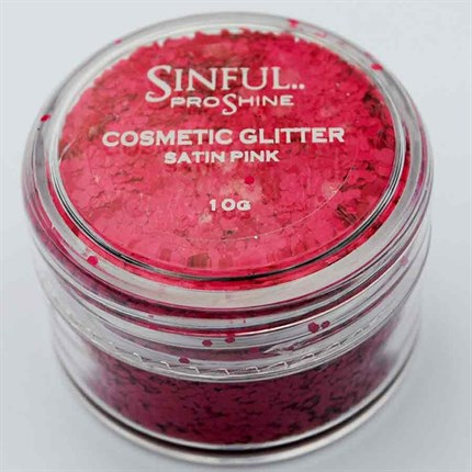 Sinful PROshine Cosmetic Glitter 10g - Satin Pink
