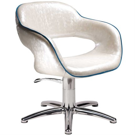 Salon Ambience Vanessa Hydraulic Chair [non-lockable, hydraulic pump] + Five Star Base - Cappuccino 63