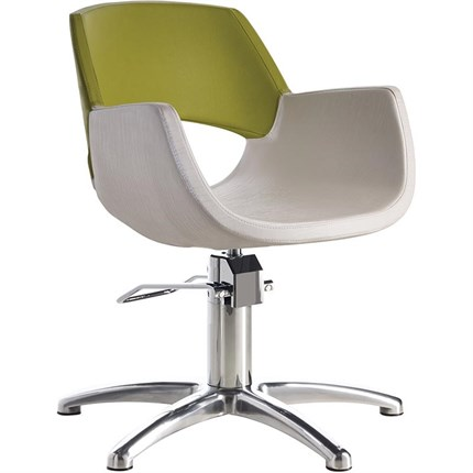 Luca Rossini Bella Chair [lockable, hydraulic pump] + Five Star Base - Vintage White G3