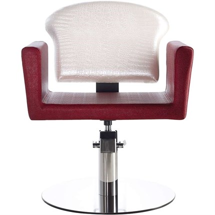 Luca Rossini Giulietta Chair [lockable, hydraulic pump] + Disc Base - Olive G8
