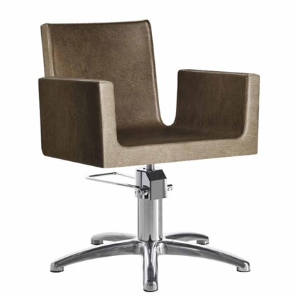 Luca Rossini Mia Chair [lockable, hydraulic pump] + Five Star Base - Milk 61