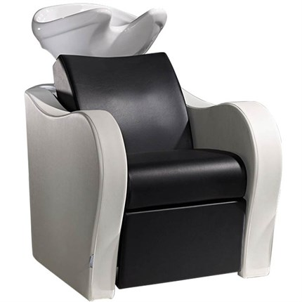 Salon Ambience Luxury Wash Unit - with White Basin (No Legrest or Massage) - Gold Damask 24