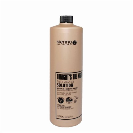 Sienna X 'Tonights The Night' DHA Fast Acting Spray Tan Solution - 1 Litre