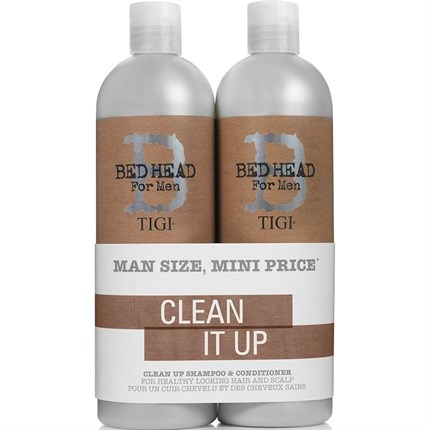 TIGI Bed Head For Men Clean Up Shampoo/Conditioner 750ml Tween Duo
