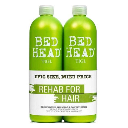 TIGI Bed Head Urban Antidotes Re-energise Shampoo/Conditioner 750ml Tween Duo