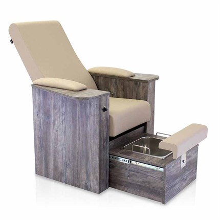 REM Natura Reclining Pedispa Chair - Phantom