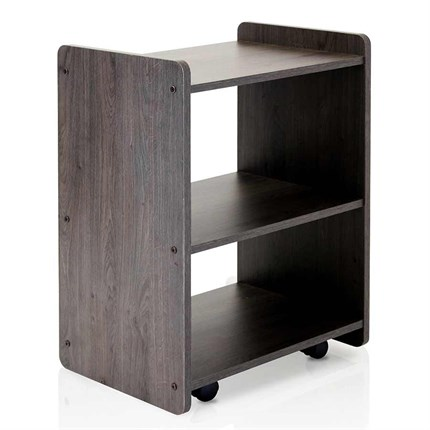 REM Beauty Spa Trolley - Dark Wood (Dusk) Sides & White Shelves