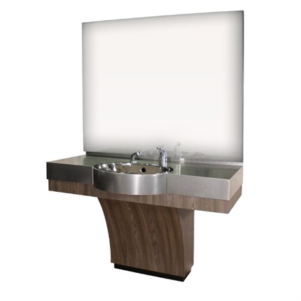 REM The Duke Barbers Unit (with Stainless Steel Basin) - Aubergine