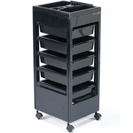 REM Studio Beauty Trolley (with Accessory Top) - Black