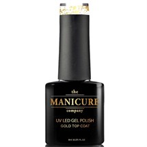 The Manicure Company UV LED Gel Nail Polish 8ml - 18ct Gold Top Coat