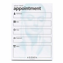 Agenda Beauty Appointment Cards Pk100