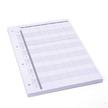 Agenda Loose Leaf Refill (6 Assistant) 4 Hole x100