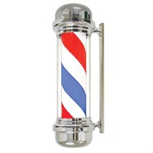 Agenda Barber Pole (Chrome Case) - Blue, Red & White