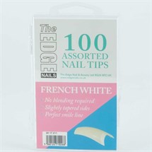 The Edge French White Tips Assorted - Pk100