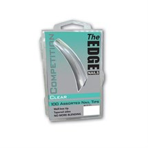 The Edge Competition Tips Clear Pk100 Assorted