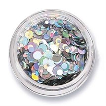 The Edge Nails Amy G Nail Art Collection - Iridescent Silver Mix Nail Sequins