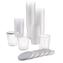 Pro Tan 80 Disposable Cups with Lids