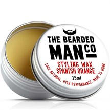 The Bearded Man Moustache Wax 15g - Spanish Orange