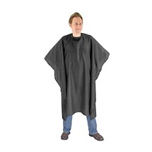 Macintyre Square Cape (Popper Neck Fastening) - Black