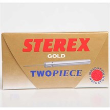 Sterex Two Piece Disposable Needles Short Gold Pk50 - F3S