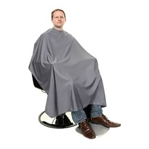 Crewe Orlando Stud Neck Barber Cape - Grey