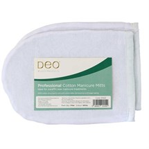 Deo Cotton Manicure Mitts - White