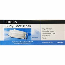 Looks Face Masks Pk50 - White