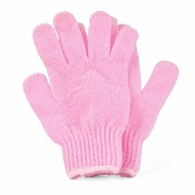 Deo Exfoliating Gloves (Pair) - Pink