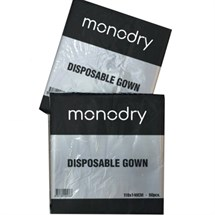 Monodry50 Disposable Gowns - Clear (Pack of 50)